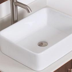 Nantucket rectangular ceramic above-counter sink