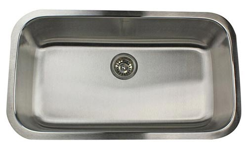 nantucket 16 gauge extra large single bowl kitchen sink ns3219 16 heavy duty stainless steel undermount kitchen sinks  rh   plumbingsupply com