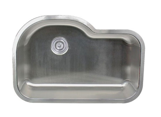 16 gauge stainless steel single bowl kitchen sink by Nantucket