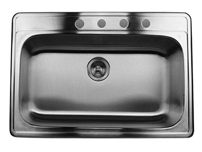 Nantucket stainless steel drop in kitchen sinks stainless steel 32 inch single bowl sink ns3322 9 workwithnaturefo