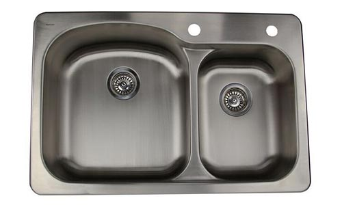 Nantucket stainless steel drop in kitchen sinks nantucket offset double bowl top mount kitchen sink ns3322 os workwithnaturefo