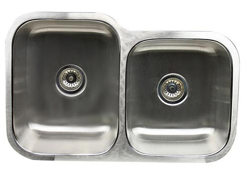 Double bowl 60/40 offset undermount Nantucket sink
