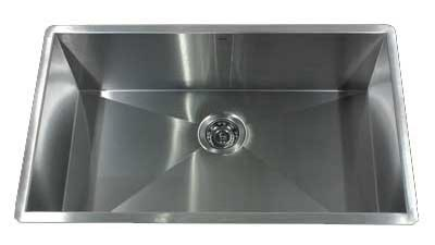 nantucket 16 gauge extra large single bowl kitchen sink zr3219 16 - Kitchen Sink Definition