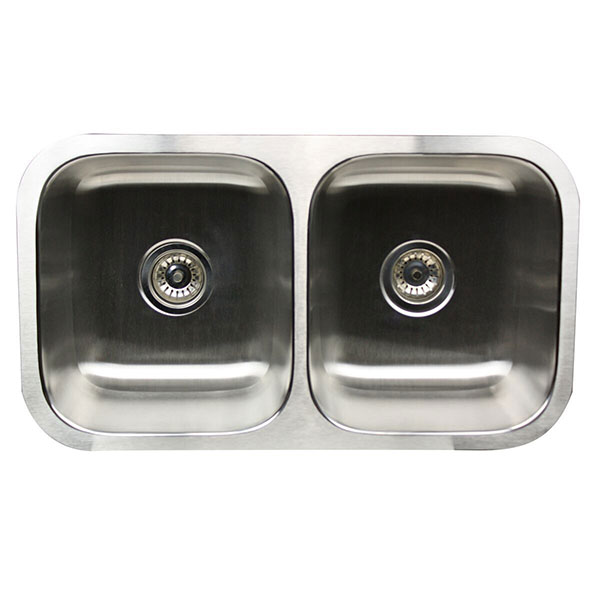 Classic 50/50 Double Bowl Undermount Kitchen Sinks