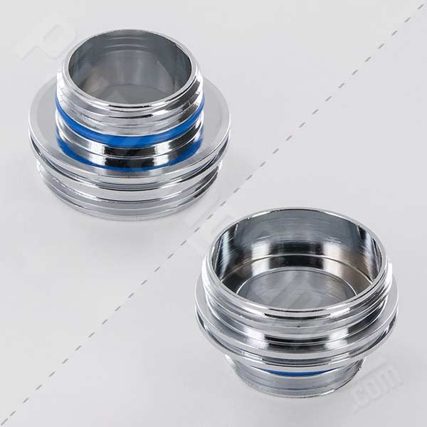 "Male M16.5x1 x Male 55/64""-27 Cache® Faucet Adapter 13-0410"