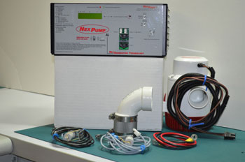 Photo of the Jet series sump pump system