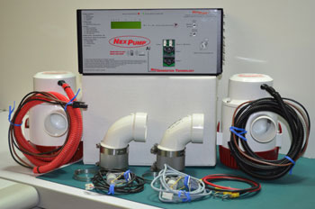 Photo of the components of this sump pump system