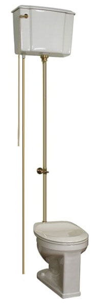 2 413WB Victorian Style Toilet With Polished Brass Trim 109547