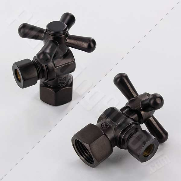 1/2-inch IPS x 3/8-inch OD angle pattern water supply valve in oil rubbed bronze