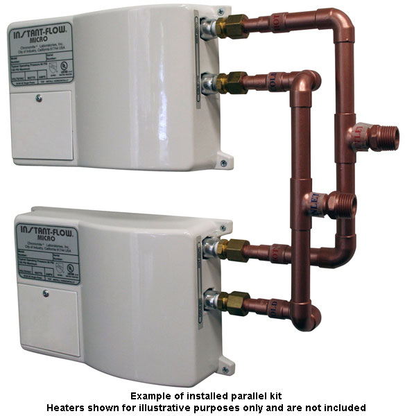 Chronomite Instant-Flow tankless water heaters on