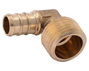 PEX 1/2-inch barbed x 1/2-inch male thread adapter elbow