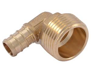 PEX 1/2-inch barbed x 3/4-inch male thread adapter elbow