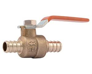 PEX 1/2-inch barbed ball valve