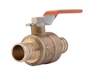 PEX 3/4-inch barbed ball valve