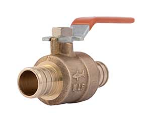PEX barbed ball valve