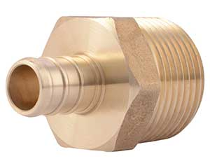 PEX 1/2-inch barbed x 3/4-inch MNPT adapter