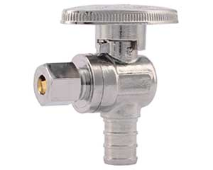 PEX barbed angle valve - 1/4 turn style