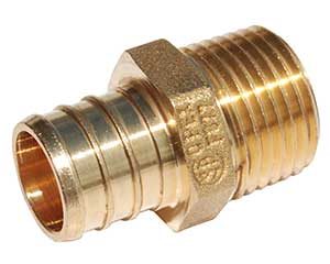 PEX barbed threaded male adapter