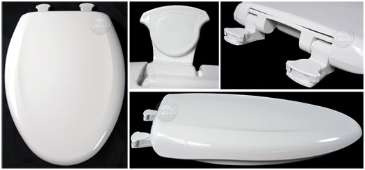bemis toilet seat hinges. Bemis 1200SLOWT toilet seat  extended elongated front seats