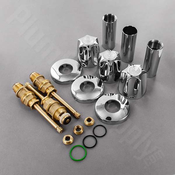 Verve three handle rebuild kit with two piece escutcheon and sleeve