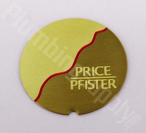 Price Pfister polished brass/red index insert 949-403P