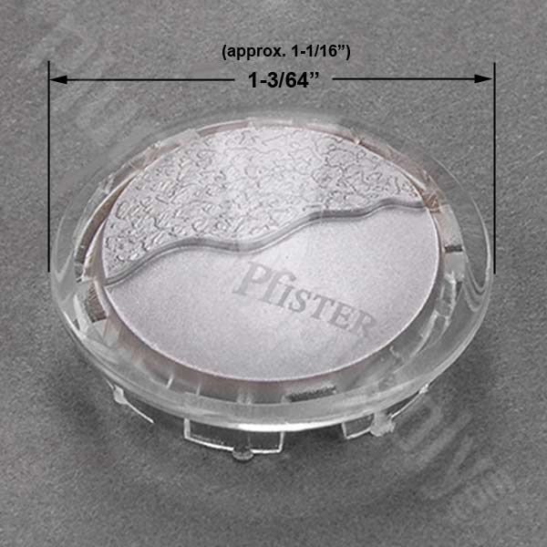 Price Pfister chrome acrylic index button 941-409A