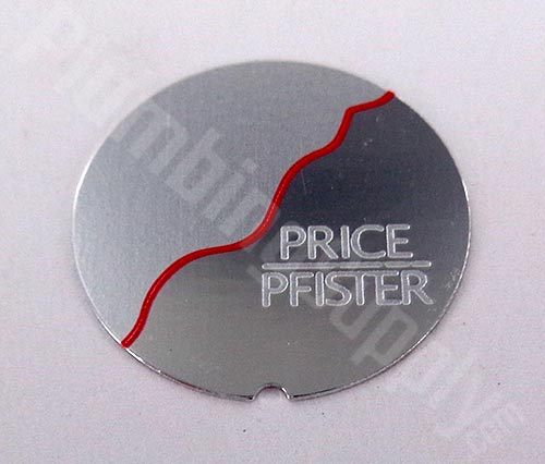 Price Pfister chrome/red index insert 949-403A