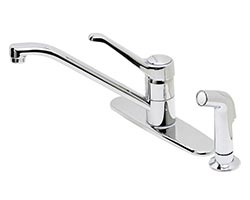 Price Pfister Genesis single lever handle kitchen faucet with side spray