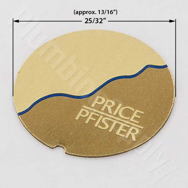 Price Pfister polished brass/blue index insert 949-406P