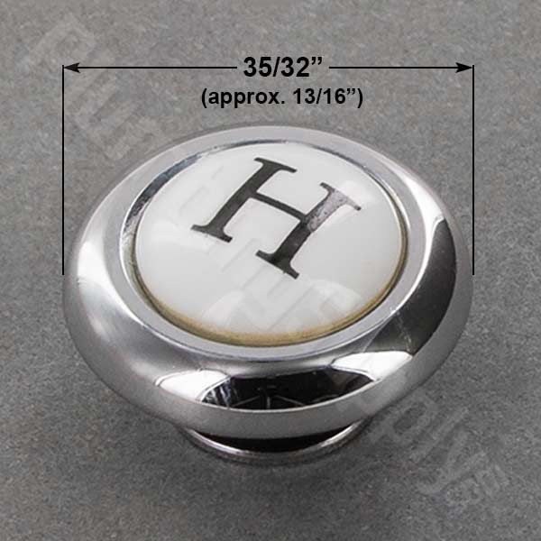 Price Pfister chrome/porcelain hot index button 941-476