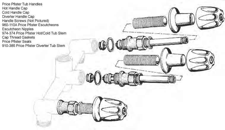 pfister shower diverter parts diagram