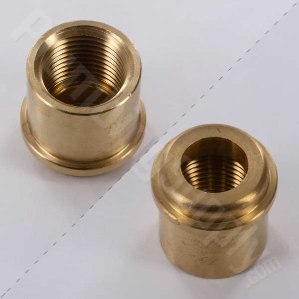 tub and shower brass union adapter