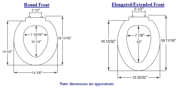 Elongated Toilet Seat On Round Bowl Kkclub - Elongated bowl toilet dimensions