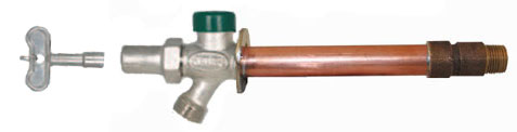 an image of the Prier model P-264 vandal proof freezeless wall hydrant