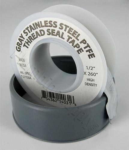 Gray 4 mil thick PTFE thread seal tape