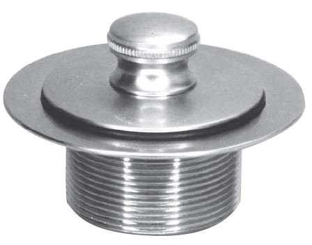 "Westbrass 1.25"" Bathtub Lift and Turn Tub Drain Plug 