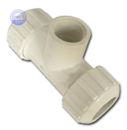 comperssion PVC tee with Fips side outlet
