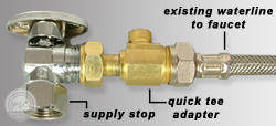 Water Filter For Sink Faucet Brass Quick Tee Adapters For Ice Makers, Dishwashers & More!