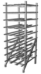 Large heavy duty can rack