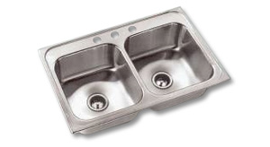 Double bowl sink example