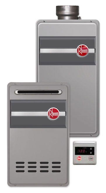 RTG-95 Series tankless water heaters by Rheem