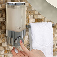 shower dispenser with towel bar