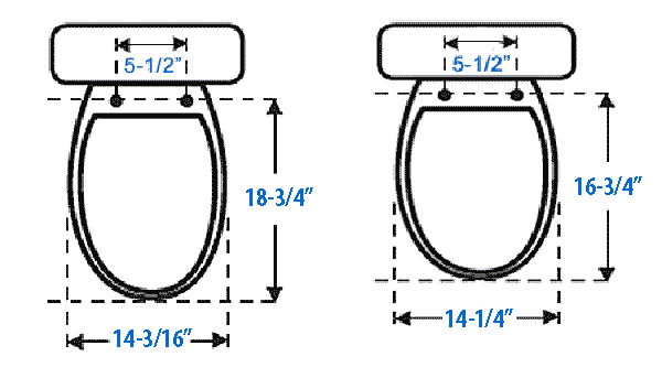 Round Bamboo Toilet Seat View Dimensions