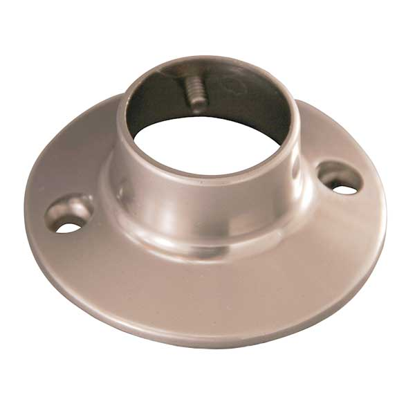 Round heavy die cast shower rod flange