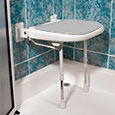 ADA compliant folding shower seats