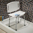 image of adjustable tub and shower chair