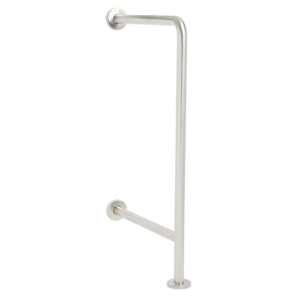 Heavy duty drinking fountain grab bar