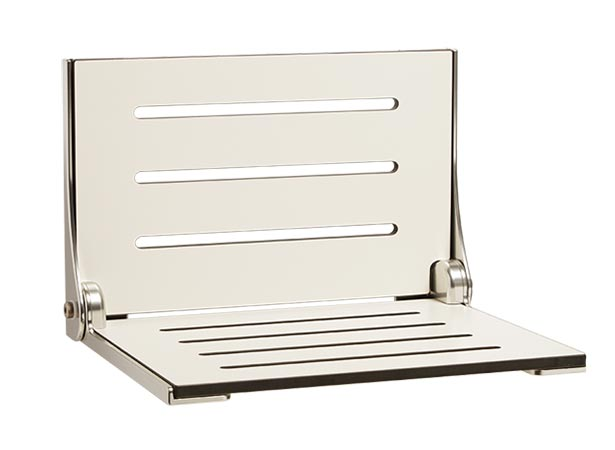Silhouette Folding Shower Bench With Straight Drain Slots Straight Slots