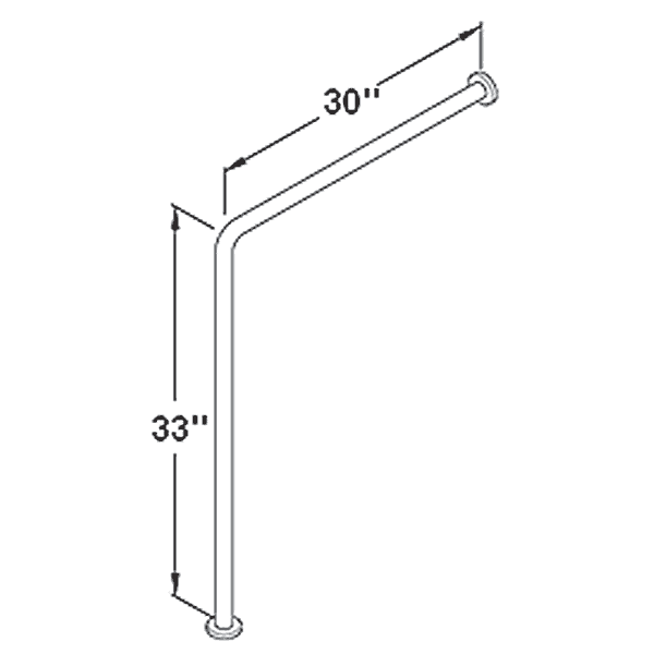 Wall to floor grab bar dimensions
