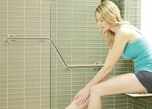 Shower Grab Bars For The Elderly lifestyle & wellness™ series safety grab bars with a designer